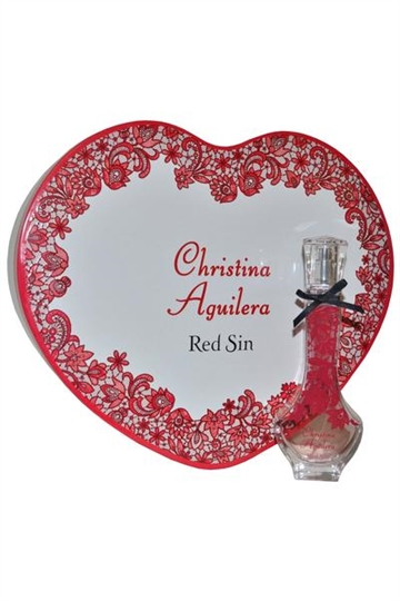 Christina Aguilera Red Sin EdP 30ml in Heart Shaped Box