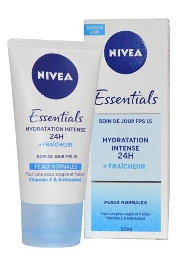 Nivea Nivea Essentials Moisturising Day Cream SPF15 50ml Normal Skin 24H Moisture Boost