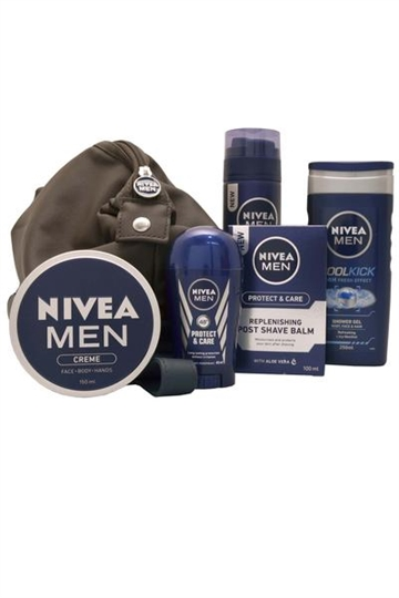 Nivea Nivea for Men Prepared for Anything Wash Bag Wash/Shave/Protect/Shave/Moisturise