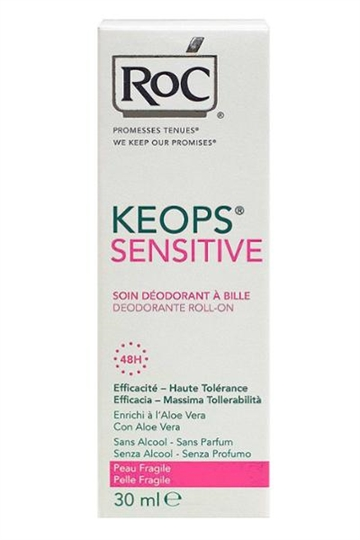 RoC Keops Deodorant Roll On 48h Protect 30ml Sensitive